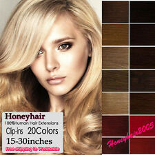 Any Color&Length Remy Real Clip In Human Hair Extentions-Straight full head