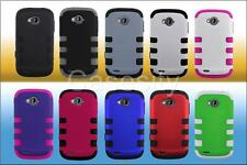 FOR ZTE SAVVY Z750C TUFF HYBRID SHIELD HARD CASE PHONE COVER ACCESSORY