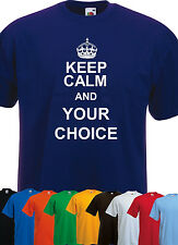 Keep Calm and your Slogan Personalised LET HANDLE IT Mens Ladies Kids T-Shirt