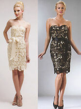 FORMAL OCCASION MOTHER OF BRIDE /GROOM CLASSY EVENING SHORT DRESS XS-3XL