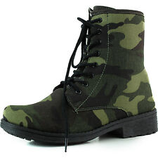 Women Ankle Booties Military Combat Boots Lace Up Cowboy Fashion Dress Shoes