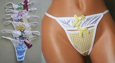 Club Lot 1 3 6 or 12 Cute Sex Fun Plaid Cut Off G-String Thong Panty S/M/L/XL