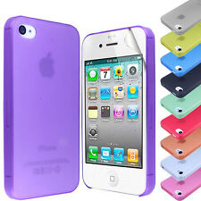 NEW FROSTED ULTRA THIN TRANSPARENT CASE COVER FOR iPhone 4G 4S+SCREEN PROTECTOR