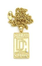 """New Dream Chaser DC Pendant w/2mm18"""" Link Chain Fashion Necklace FXMP5"""