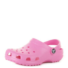 KIDS GIRLS CROCS CLASSIC PARTY PINK JELLY SANDALS SHOES SIZE C8/9-M3/W5