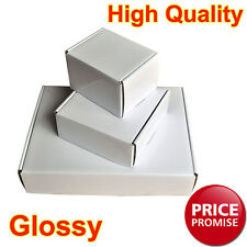 Glossy White Postal Cardboard Boxes Small Mailing Shipping Cartons Multi Listing