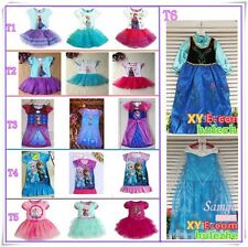 Frozen Girl Anna Elsa Tutu Dress T-shirt Baby Toddler Clothes all kinds costumes