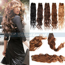 "12-26"" Remy Natural Wave Weaving 100% Brazilian Human Hair Extensions Weft 50g"