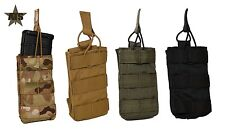 ATS Tactical Tall Single MOLLE AR 5.56 Magazine Pouch-Multicam-Coyote-RG-Black