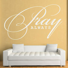 Pray Always Wall Sticker Religious Wall Decal Art