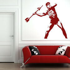 Javelin Thrower Banksy Style Wall Decal Art Grafitti Wall Stickers