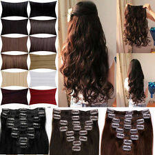 UK Premium Any Colours & Lengths Clip In Hair Extensions REAL Sythetic O Beauty
