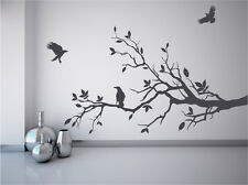 Tree branch wall decal crows ravens birds mural game of thrones fan sticker