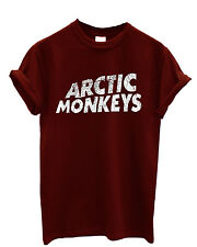 Arctic Monkeys Alex Turner Rock Music Cool Men Women Maroon Unisex Top T-Shirt