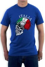 Italy Flag World Cup Skull T-Shirt Italia football national team soccer fan