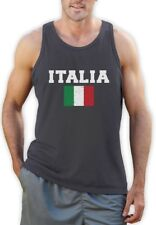 ITALIA FLAG Singlet World Cup 2014 Distressed Italy Forza Italian Pride Flag