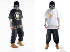 Gold Stamping HIPHOP West Coast hip-hop T-shirt for men and women hot sale