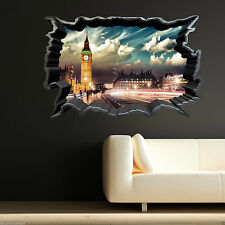 Full Colour BIG BEN LONDON CRACKED wall art sticker decal transfer Graphic PRINT
