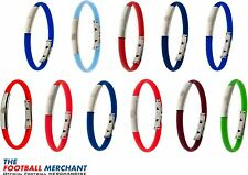 Official Football Club SILICONE BRACELET Wristband with Metal Crest - Xmas Gift