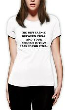 I Asked For Pizza Women T-Shirt PIZZA Tumbler Fashion Dope Swag quote Unicorn