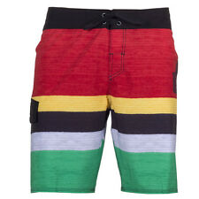 Quiksilver Slater 19 Mens Board Shorts Red Green All Sizes