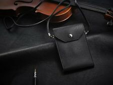 Small Leather shoulder bag for Cell Phone/Coin/Card, Wallet Case for iPhone 4/5