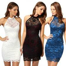 New Sexy Lady Women Lace Mini Dress Cocktail Hollow out Skirt Clubwear 3Color