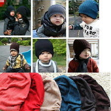 Lovely Boy Girl Baby Toddler Child + Parent Cotton Warm Knit Beanie Hat Cap 0001