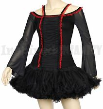 GothIc Off Shoulder Medieval Renaissance Bell Sleeve Lace Top ~ VamPire GotH EmO
