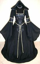 MEDIEVAL DRESS CUSTOM MADE GOTH WITCH VAMPIRE COSTUME TUDOR HALLOWEEN ROBE ABITO