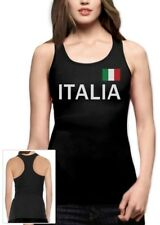 Italy Soccer Racerback Tank Top National Soccer Team Italia Flag World Cup 2014