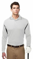 Tri-Mountain Men's Polyester Three Button Placket Long Sleeve Polo Shirt. K118LS
