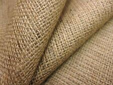NATURAL JUTE BURLAP HESSIAN COARSE SACKING CLOTH UPHOLSTERY LINING 10oz Fabric