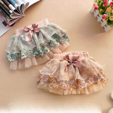 2-6Y Baby Girls' Ribbon Bowknot Flower Tutu Floral Skirt Princess Layered Dress