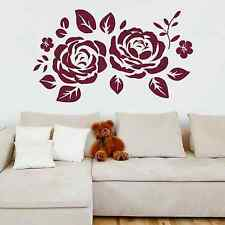 ROSE, Floral, Silhouette, LARGE WALL STICKER, Decal, WallArt, SS2111
