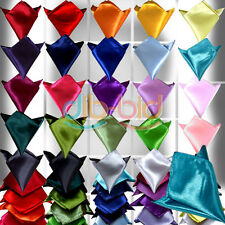 Colorful Silk Satin Pocket Party Man Plain Square Hanky Hankerchief Wedding