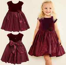 2014 Summer Children Girl's Princess Dress With Bow For Wedding Birthday Partys