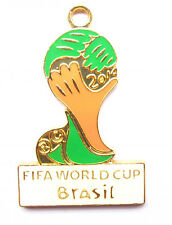 New Lot 2014 Brazilian World Cup Metal Charm Pendant Jewelry Make party Gifts