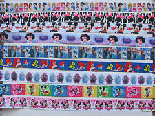 DISNEY GROSGRAIN RIBBON MICKEY & MINNIE MOUSE / FROZEN / PRINCESS / ARIEL /