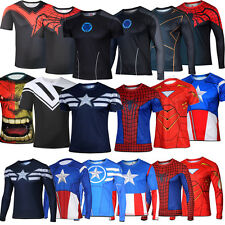 Mens Boy Casual Marvel Comics Superhero Avengers T-Shirt Costume Jersey Tee Tops