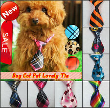 Adjustable Dog Cat Pet Tie Small Dog Clothes Clothing Necktie Collar Party Dress