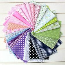 "50pcs assorted pre-cut mixed series plain cotton Quilt fabric DIY 6.7""x9.8"""