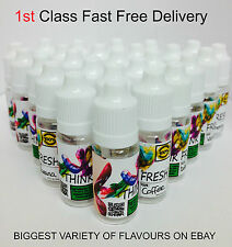 THINK FRESH E LIQUID JUICE REFILL  SHISHA FLAVOUR HOOKAH  OIL.**130+ FLAVOURS**