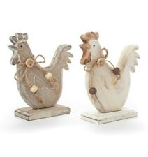Wooden Country Hen Home Kitchen Decoration Shabby Chic Gift Chicken