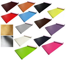 Faux Leather Leatherette Fabric Upholstery Vinyl Material 1 Metre 10 Colours