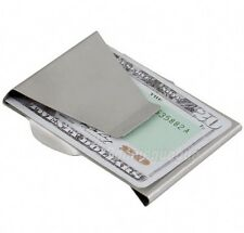 NEW Stainless Steel Slim Double Sided Money Clip Credit Card Holder Wallet