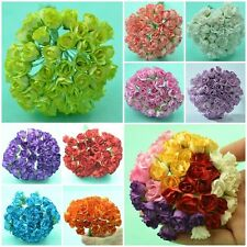 50 PIECES MULBERRY PAPER ROSEBUD BUD FLOWERS FOR WEDDING DIA. 15 mm./ 0.6 INCH