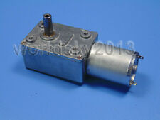 DC3V 6V 12V 24V High Torque Square 370 Worm Reduction Gear DC Motor with Gearbox