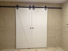 American style sliding barn door hardware*2 sets-Internation shipping