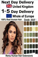 100s/set Remy Human Hair Extensions Easy Loop Micro Rings Beads Tipped Grade AAA